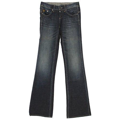 G-STAR RAW G-Star, Midge Bootleg, Damen Jeans Hose, Stretchdenim, darkblue used, W 26 L 34 [20057]