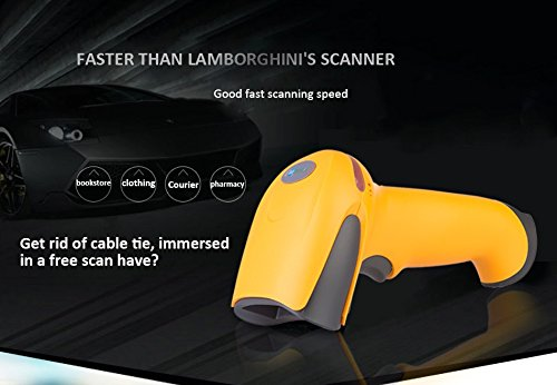 Maya Wireless Laser Barcode Scanner Long Range Cordless Bar Code Reader for POS and Inventory - NT-2028
