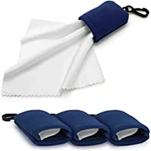 igadgitz 3x Paño de limpieza de Microfibra con Funda para Lentes, Gafas, Teléfono, Tableta, Pantallas, Televisores, Gafas de sol, Prismáticos, etc.