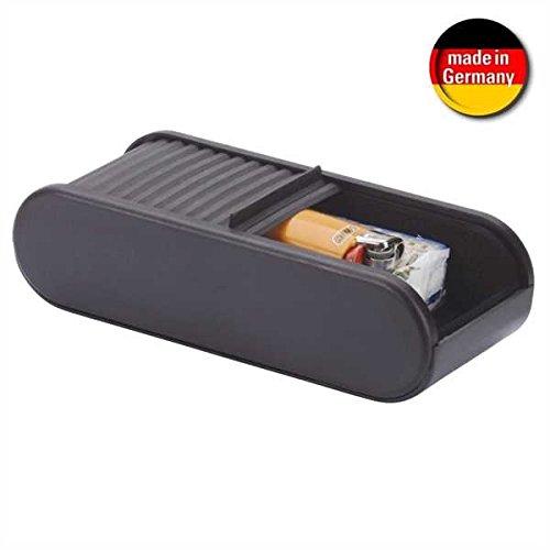 Preisvergleich Produktbild Smart-Planet® hochwertige Auto Ablagebox - Selbstklebend - mit Rollladenverschluss - Größe: 45 x 72 x 168 mm Für KFZ / Schreibtisch... - schwarz