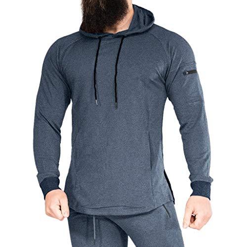 IFOUNDYOU Herren Kapuzenpullover Herrenmode Herbst Winter Mit Kapuze Langarm Pullover Sport Laufmantel Sweatshirt