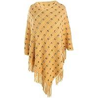 LILICAT✈ Juego de Tarjetas Grandes de la Calle de la Moda Juego de Borla de Perlas imitación mantón de Cachemira Manga Borla sólida Perla de Cachemir Bufanda Chal
