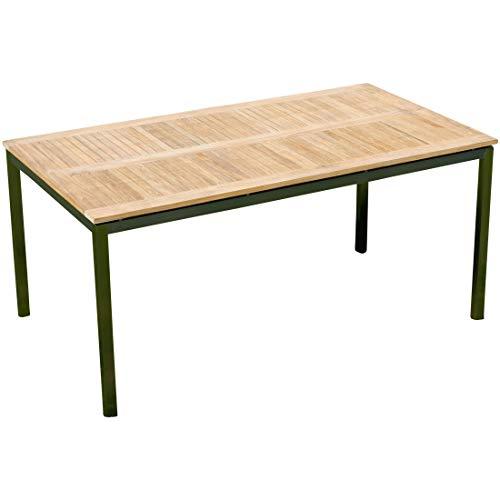 Edelstahl Teak Gartentisch 160x90 cm Holztisch Esstisch Tisch Massive Ausführung A-Grade Teakholz Kuba Modell: Kuba von As-S