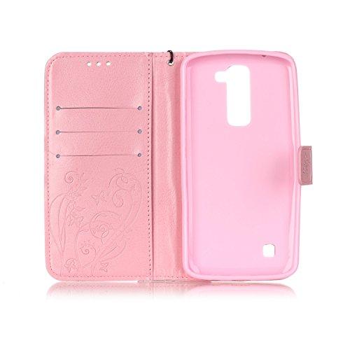 Meet de Case pour Apple iPhone 6 / iphone 6S, papillon print Folio Wallet flip étui en cuir / Pouch / Case / Holster / Wallet / Case pour Apple iPhone 6 / iphone 6S PU Housse / en cuir Wallet Style de rouge