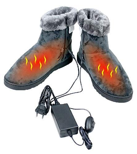 ObboMed® MF-2620L, 12V, 20W, Karbonfaser beheizbare Schuhe (L: bis Schuhgröße 45.5), Heizschuhe, Infrarot Schuhe, Fußwärmer, Kalte Füße Aufwärmer, Wärmeschuhe, Winterhausschue,