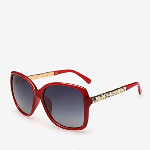 Marcus R Caveggf Polarisierte Sonnenbrille der Frauen Neue Klassische große Rahmen-Sonnenbrille, die Spiegel fährt, 01