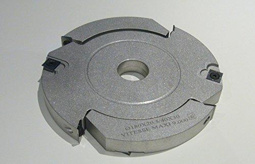 zak : Porte Outils Rainer tenonner 180mm EPH. 20,4/40mm Kreisel 30mm