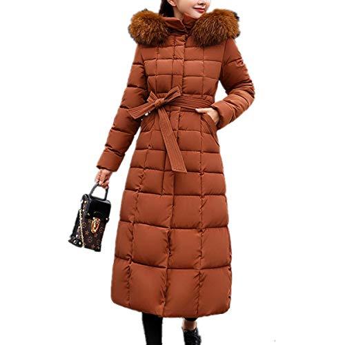 Fanessy Manteau Femme Doudoune Noir Gris Parka avec Capuche Fourrure Longue Cardigan Lâche Parka Blouson Veste Chic Mode Très Chaud Hiver Grande Taille Fourrure