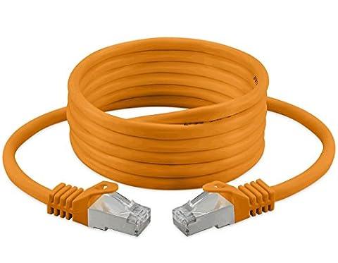 5m Cat 7 Câble Ethernet, sans halogène 600 MHz / 100 Ω 4 paires Stranded 10 Gbs pour le streaming / UHD Tv / IPTV / Lecteur média / Récepteurs Satellite / Serveurs réseau / Ordinateurs de bureau Pc / Super rapide Câble Ethernet Avec Connecteurs Pin Or
