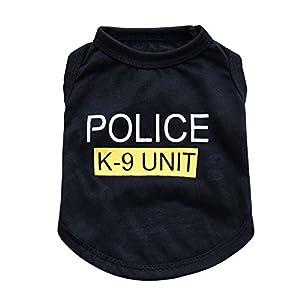 Bello Luna Vêtements de T-Shirt de Chien de Police de Costume d'animal familier