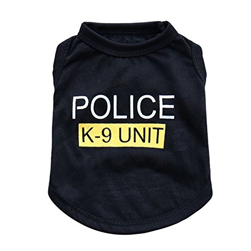 Bello Luna Pet Costume Police camiseta de perro Apparel-M
