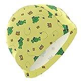 Gebrb Gorro de Baño/Gorro de Natacion, Swim Cap Cute Animal Frog Pattern Swimming Hat Cover Ears No-Slip Bathing Cap for Men