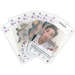 Youyouchard BTS Bangtan Boys Love Yourself - Tarjetas fotográficas BTS Kpop BTS transparentes de TPU Bangtan Boys Suga Jimin Jungkook Photo