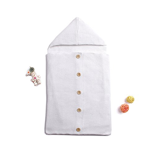 Neugeborene Baby Wrap Wickeldecke Knit Schlafsack schlafen Sack Baby Infant Kinder Decke SWADDLE Schlafsack schlafen Sack Buggy Wrap für 0–6Monat Baby