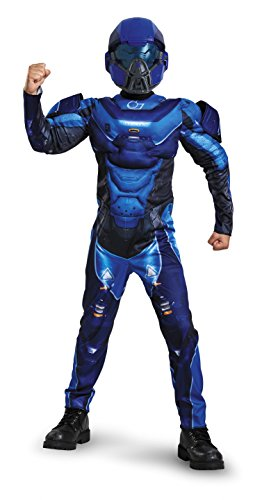 Disguise Blue Spartan Halo Muscle Chest Boys Costume XL ()