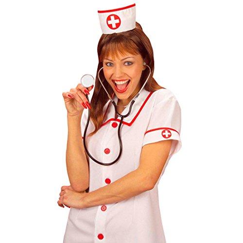 Krankenschwester Kostüm Doktor - Amakando Spiel Stethoskop Arzt Abhörgerät Krankenschwester Kostüm Accessoire Doktor Untersuchungsgerät Arztkoffer Zubehör Fasching Spielzeug Karneval Kostüme