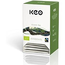 Keo Tee - GRÜNER TEE - Bio & Fairtrade 20 Pyramidenbeutel