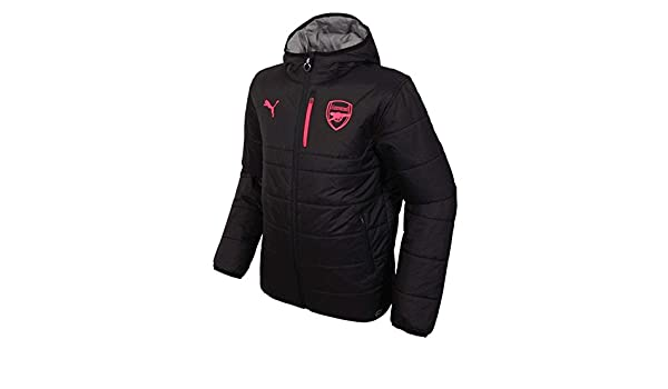 Arsenal FC PUMA Mens Black Grey Reversible Football Training Jacket 2017 2018