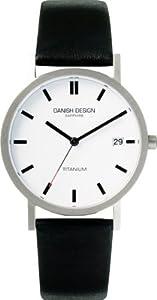 Reloj de caballero Danish Design 3316100 de cuarzo, correa de piel color negro de Danish Design
