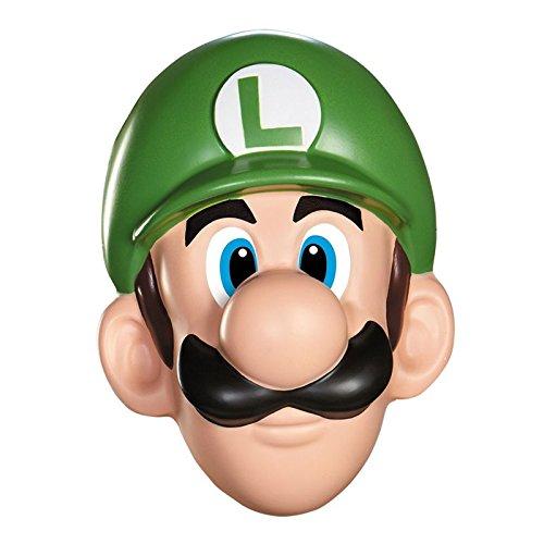 Preisvergleich Produktbild Unbekannt Super Mario 13384 – Maske Luigi für Erwachsene,  grün,  Einheitsgröße