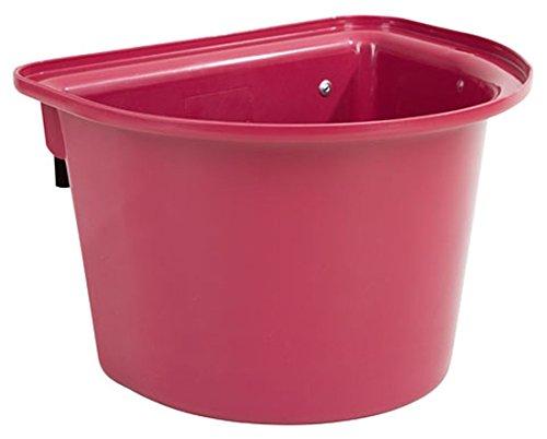 2 Stück Transport-Krippe rosé 12 Liter Pferdetrog Pferdetränke zum Einhängen