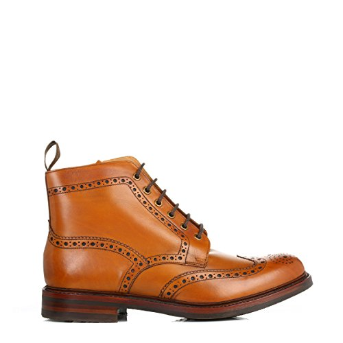 Loake Hommes Tan Bedale Cuir Brogue Bottes Tan