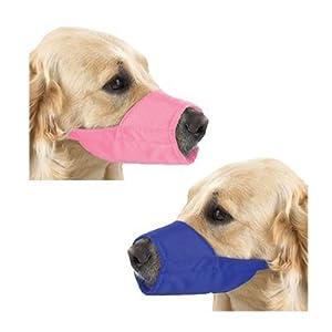 Fashion Lined Nylon Dog Muzzle - Size 4 Pink by Guardian Gear