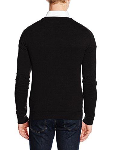 NIZZIN Herren Pullover Chestnut Black