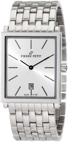Pierre Petit - P-789E - Montre Homme - Quartz Analogique - Bracelet Acier Inoxydable Argent