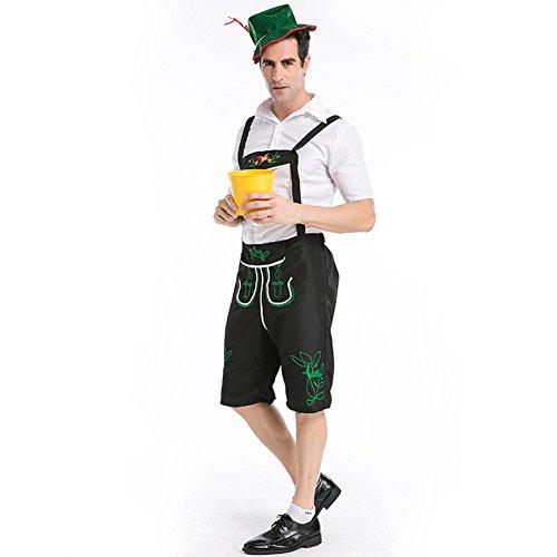 Hallowmax Oktoberfest Halloween Herren Arbeiter Bauer Overall Trachtenmode Cosplay - Bauern Kostüm Mit Overall