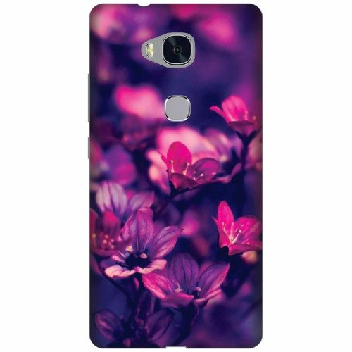 Printland Designer Back Cover For Huawei Honor 5X - Flowers Printed Cases Cover
