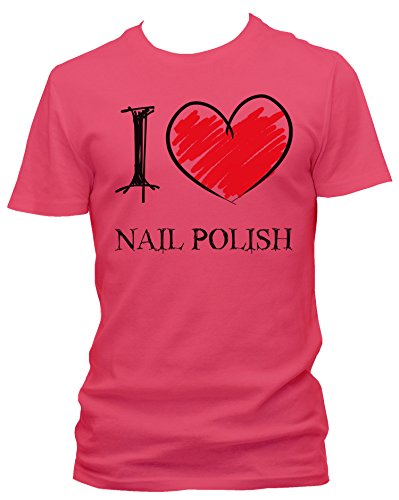 NEON Mens T-Shirt I love Nail Polish FUN