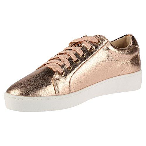 ByPublicDemand Joanna Femme Talons bas Lacer chaussure de tennis Rose