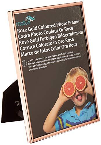 Maturi - Marco de Fotos Fino de Oro Rosa