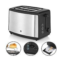 WMF Bueno Edition Toaster mit Brötchenaufsatz, 2er Toaster-Doppelschlitz, für 2 Scheiben, XXL-Toast, Aufwärm-Funktion, 7 Bräunungsstufen, edelstahl matt
