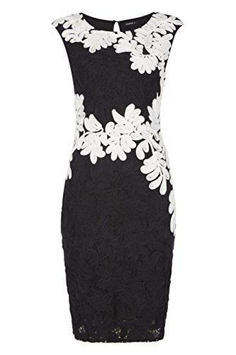 Roman Originals Women's Contrast Tapework and Lace Dress