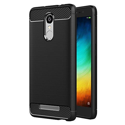 AICEK Compatible Xiaomi Redmi Note 3 Pro Hülle, Schwarz Silikon Handyhülle für Xiaomi Redmi Note 3 Pro Schutzhülle Karbon Optik Soft Case (5,5 Zoll)
