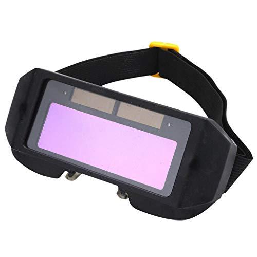 Sisit LCD Solarbetriebene Auto Verdunkelung Schweißer Schweißen Brille Maske Helm Augenschutz Schutz Schweißer Brille Maske Helm mit verstellbarem Schirm, Augenschutz Maske Anti-Flog Anti-Glare-Brille