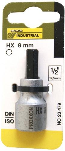 Proxxon 23479 Innensechskanteinsatz 8 mm, 55 mm, 1/2 Zoll (Chrom-fluid)