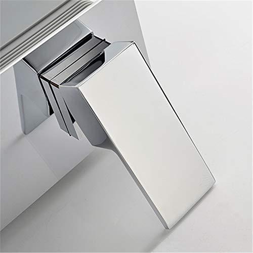 WasserhahnQuadratische Badezimmer Wand Montiert Waschbecken Wasserhahn Messing Spiegel Poliert Verchromten Waschbecken Mixer Hahn Mit Eingebetteten Box