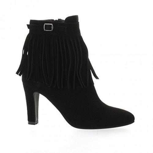 Vidi studio Boots Cuir Velours Noir