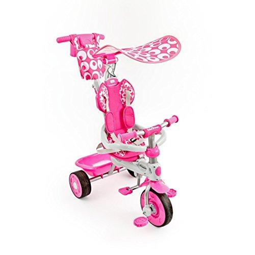 Dreirad 3in1 Sunny mit Teleskoplenkstange von UNITED-KIDS, verschiedene Farben ++ Sommerknallerpreis - Lagerräumung, Farbe:Pink