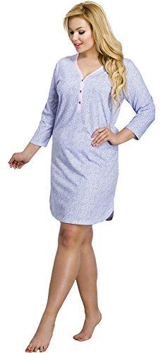 Merry Style Damen Nachthemd 2007 Blau-1A