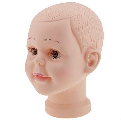 MagiDeal Kinderkopf Schaufenster Deko Kopf Kind Mannequin Model Puppe - Hüte Mütze Brille Perücke Schaufensterpuppe