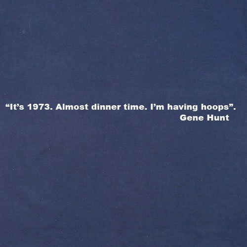 Official Gene Hunt T-Shirt - Hoops, Herren Rot