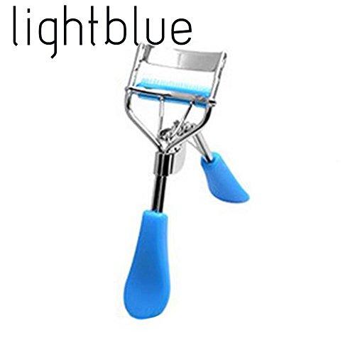 UKZHIDA 1 PC Universel Flexible Maquillage Outil Peignes Cils Large Bigoudi Angle Cils Clip Peignes Beauté Brosse Curl Cils Cils Bigoudi (bleu clair)