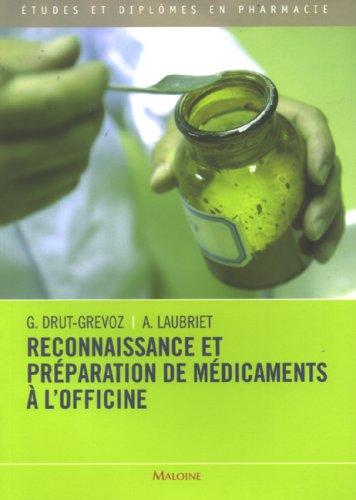 Reconnaissance et préparation de médicaments à l'officine