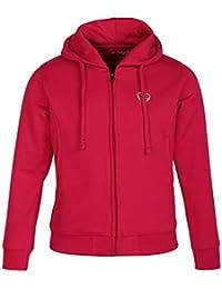 Cayman Girls Pink Solid Hooded Sweatshirt