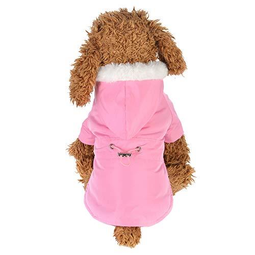 SOMESUN Haustier Hunde Warme Daunenjacke Mit Kapuze Mini Hündchen Welpe Winterjacke Süß Plüsch Baumwolle Hundemantel Gemütlich Weich Elastisch Hundejacke Shirt