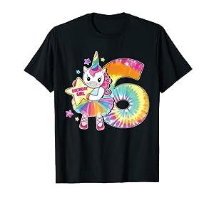 Camiseta de 6º cumpleaños con